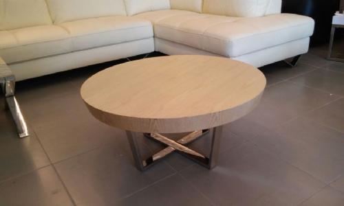 שולחן עגול אלון בהיר